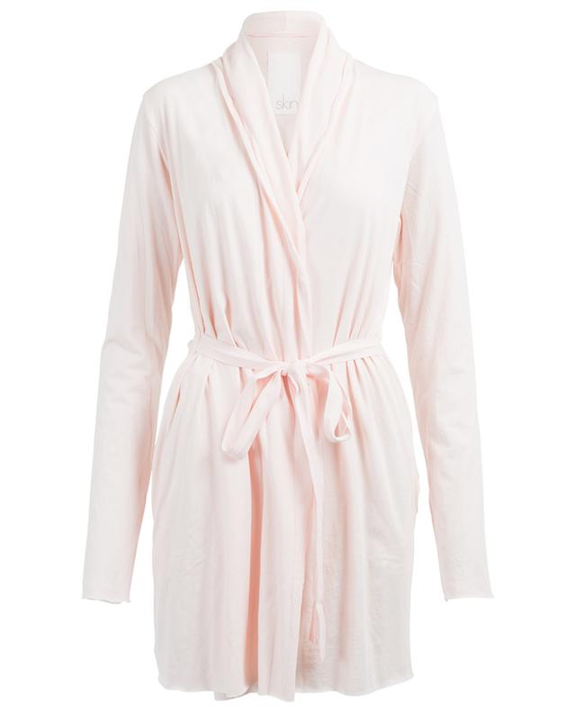 Wrap cotton dressing gown SKIN