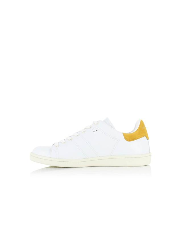 Isabel marant sneakers aus leder weiss a14205