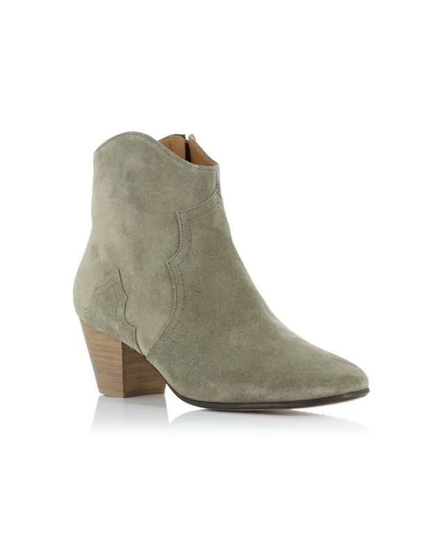 Isabel marant dicker suede ankle boots beige a14219