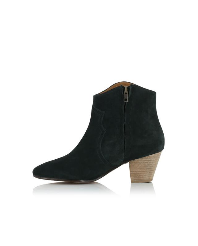 Isabel marant bottines en daim dicker noir a14219