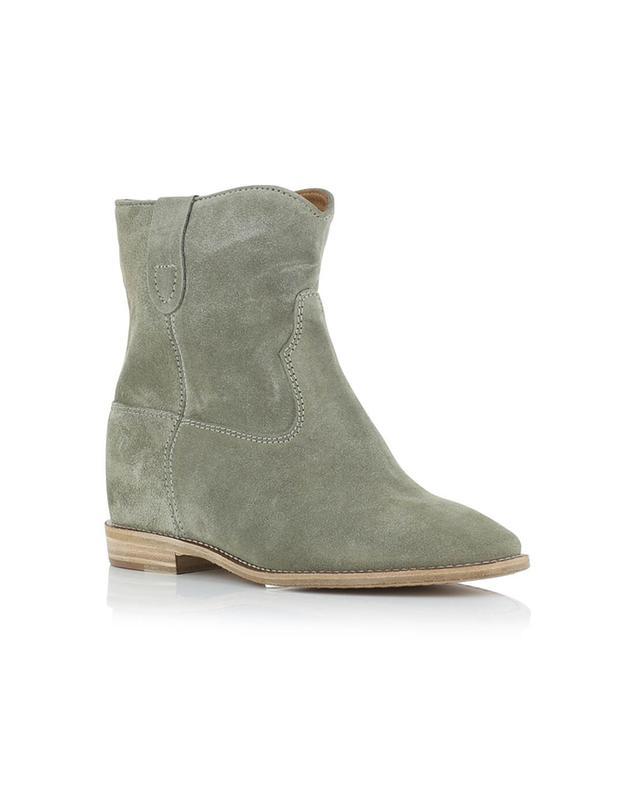 isabel marant crisi suede wedge ankle boots beige a14220 bongenie grieder. Black Bedroom Furniture Sets. Home Design Ideas