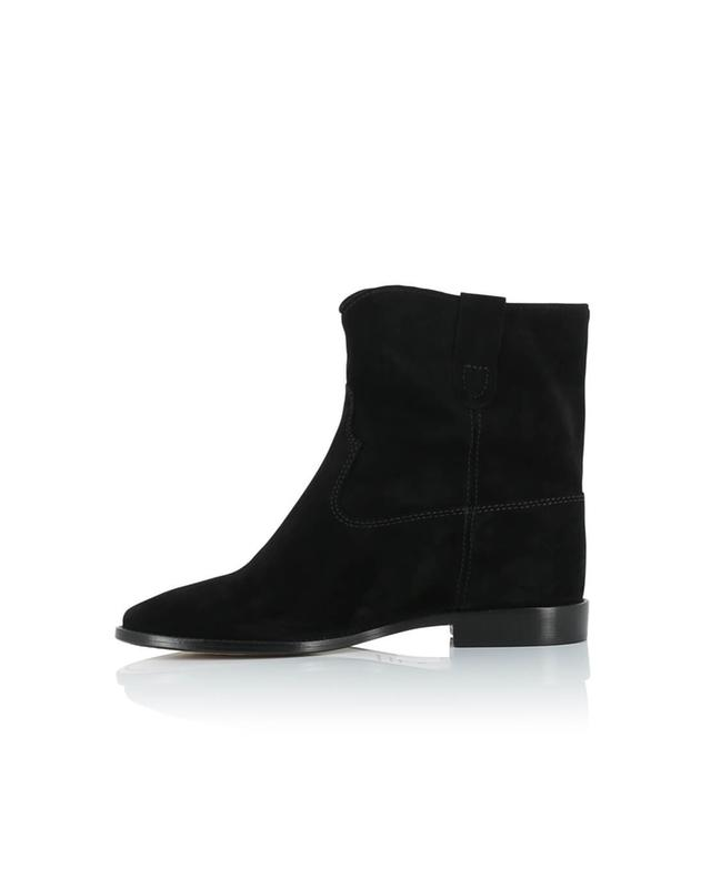 Isabel marant crisi suede wedge ankle boots black a14220