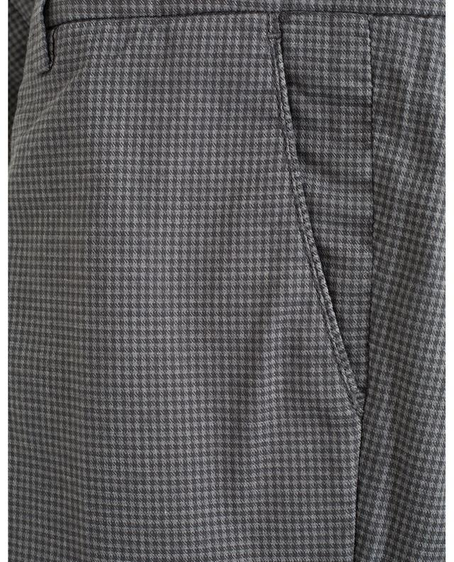 Checked cotton blend trousers B SETTECENTO