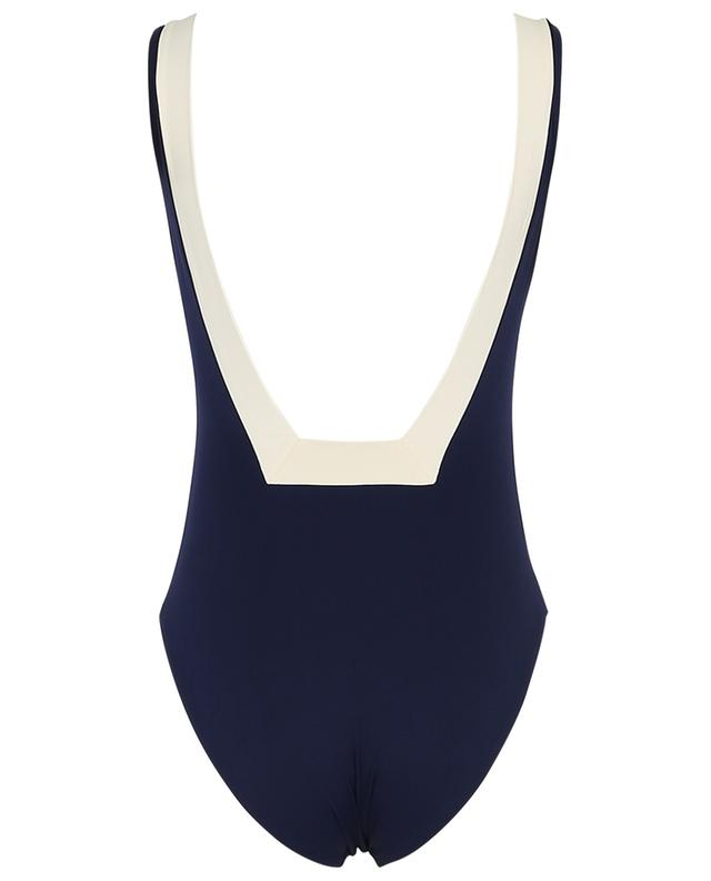 Iris bicolour one-piece swimsuit KIWI