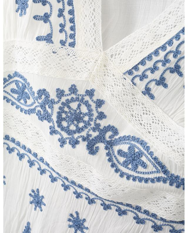 Romantic beach tunic with embroideries KIWI