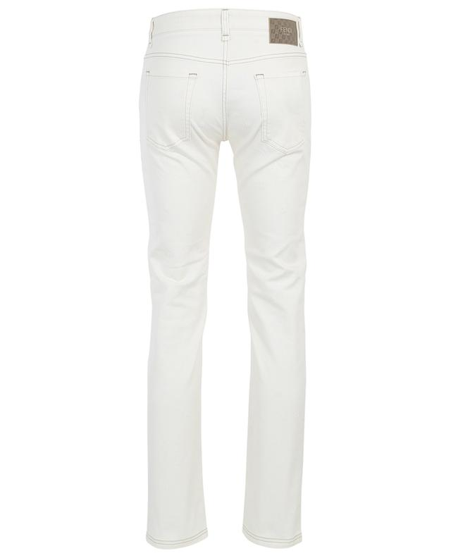 Monogrammed cotton stretch slim fit jeans FENDI