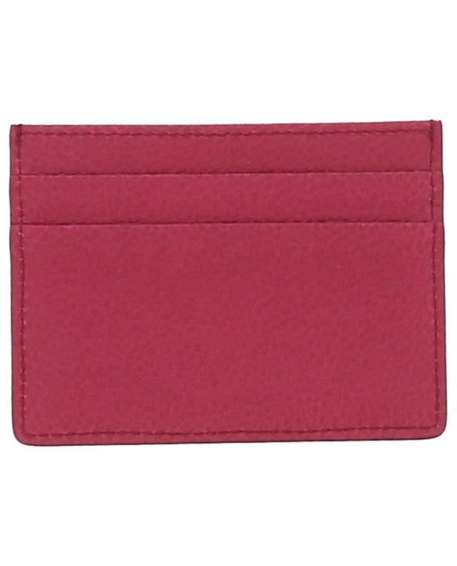 Grained leather card holder with logo DOLCE & GABBANA