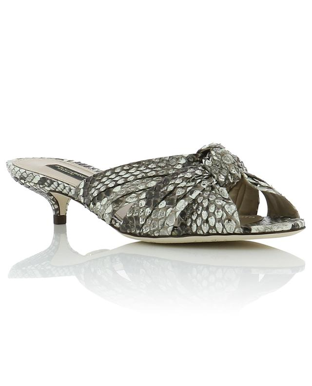 Keira leather and python slides DOLCE & GABBANA