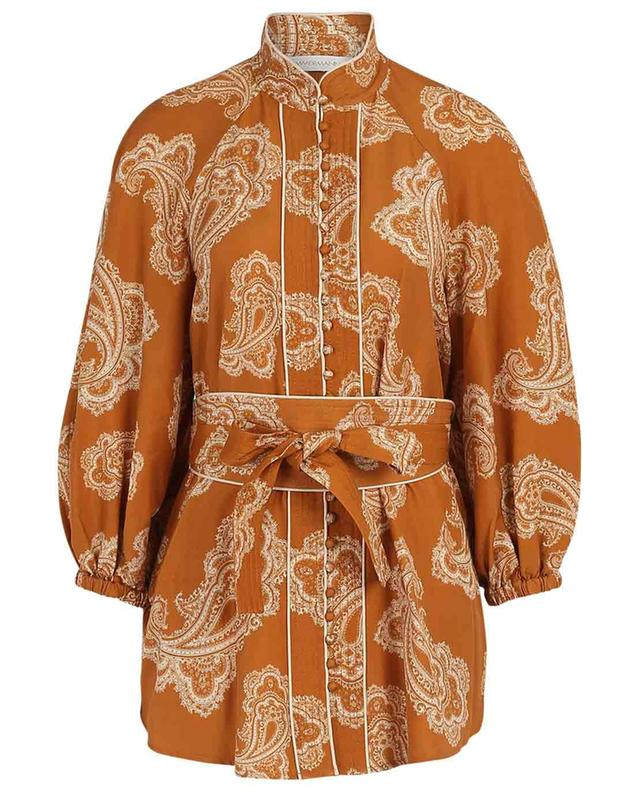 Wavelength Paisley print silk shirt ZIMMERMANN