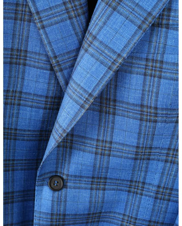 Checked wool, silk and linen blazer NAPOLI COUTURE