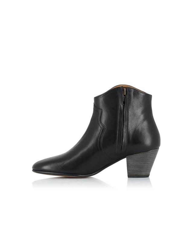 Isabel marant dicker leather ankle boots black a20618