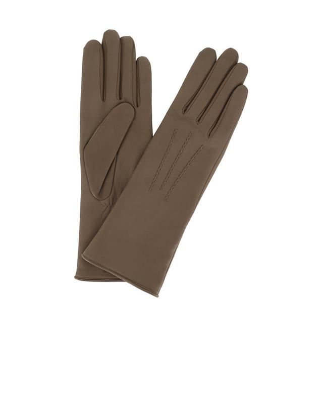 Smooth leather gloves AGNELLE