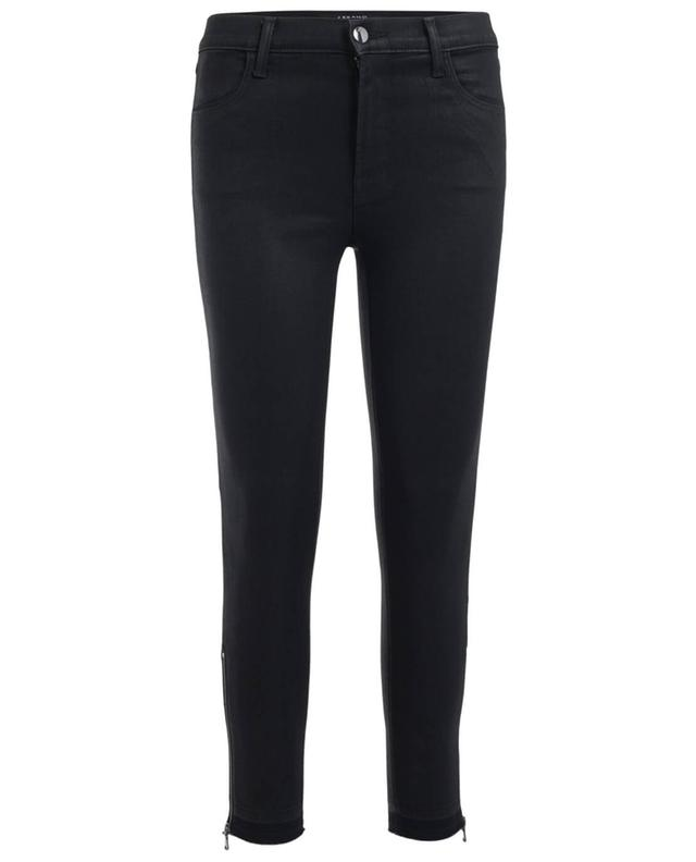 J brand alana coated slim fit jeans black a24851