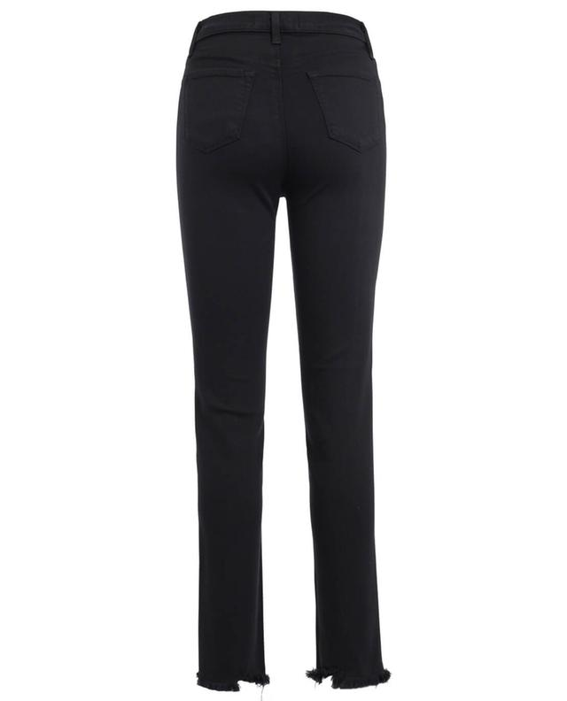 J brand maria straight high waisted jeans black a24852