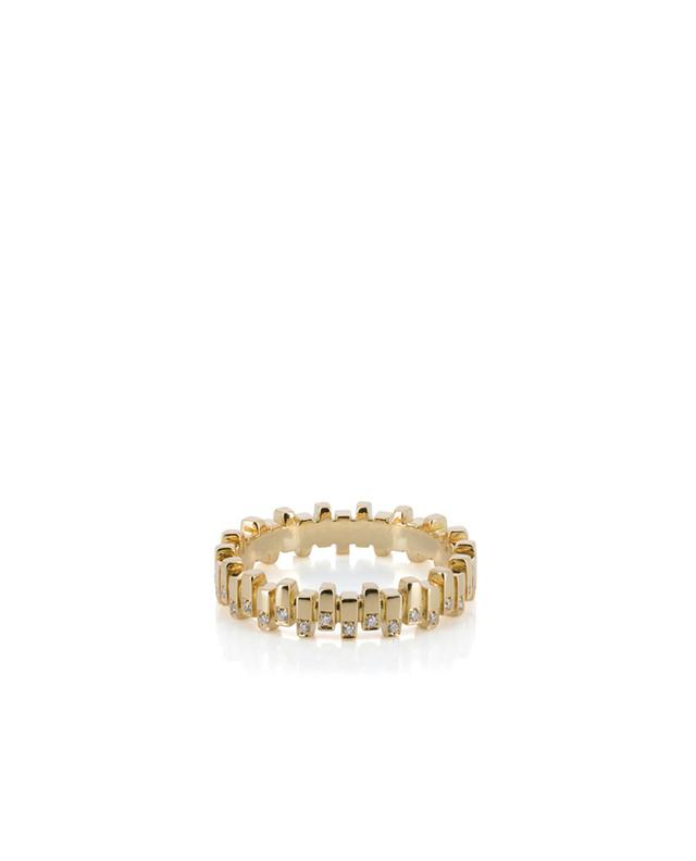 Yellow gold and diamonds ring MISANELLI
