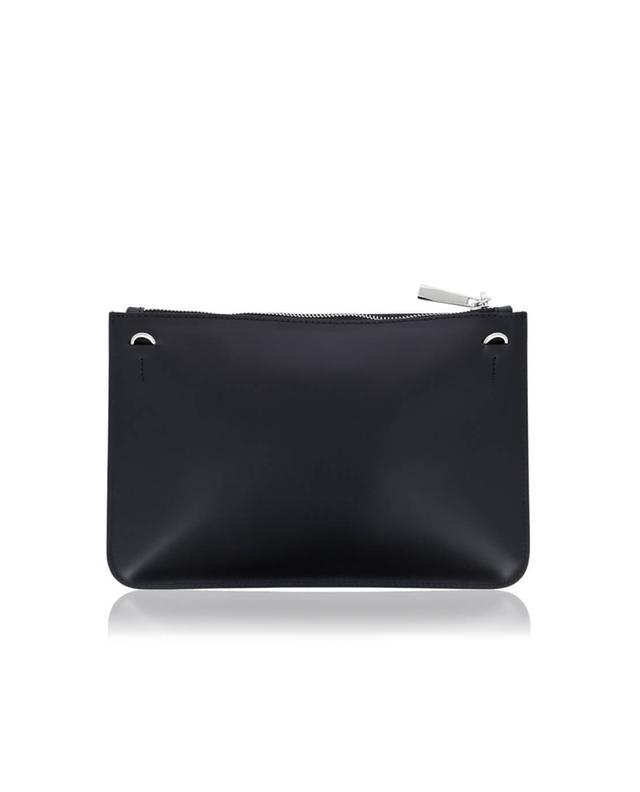 Leather clutch with facets GIANNI CHIARINI