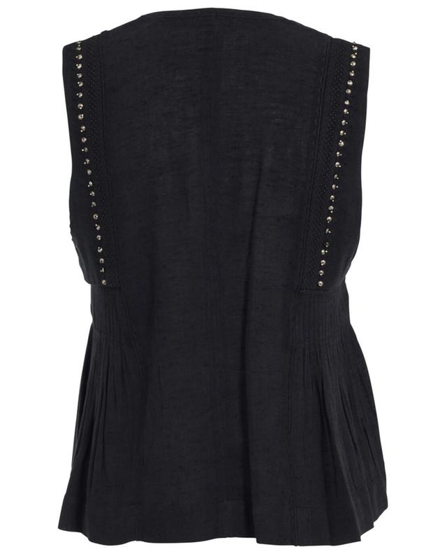 Sleeveless top in cotton and viscose ISABEL MARANT