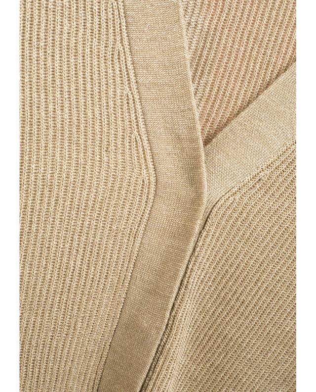 Brunello cucinelli cardigan en lin paillett beigeclair - Paillette de lin ...