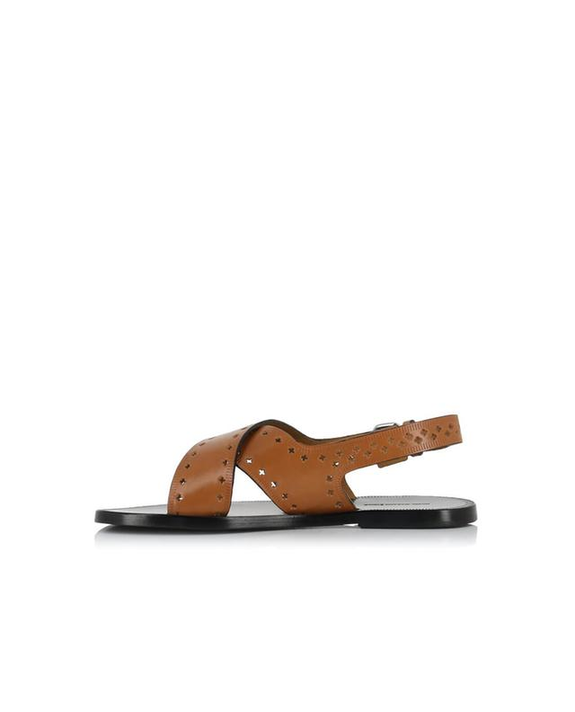 Isabel marant malick leather sandals camel a27992