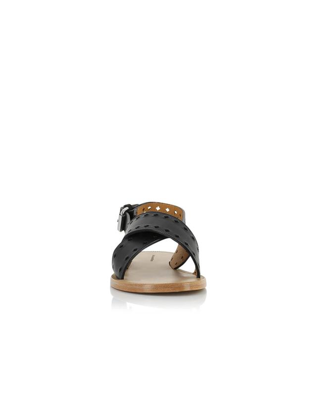 Isabel marant malick leather sandals black a27992
