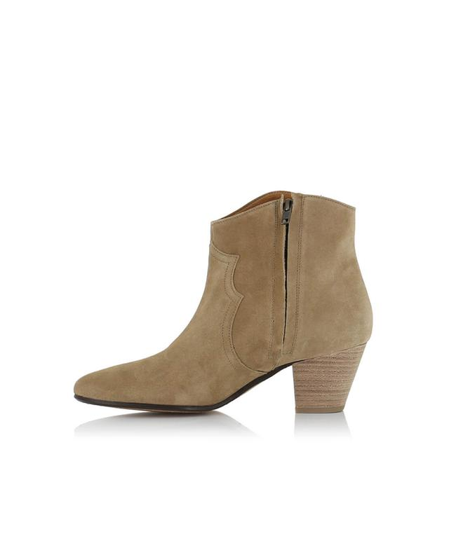 Isabel marant bottines en daim dicker beige a28001