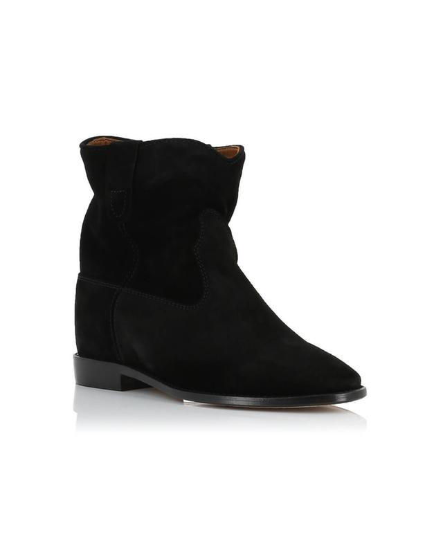 Isabel marant crisi suede wedge ankle boots black a28002