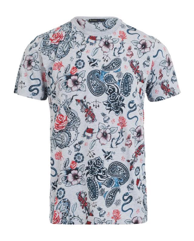 Discount Reliable tattoo print T-shirt - Grey Etro Free Shipping Store Latest Discount Cheap Get To Buy Real For Sale qm09ff9bD