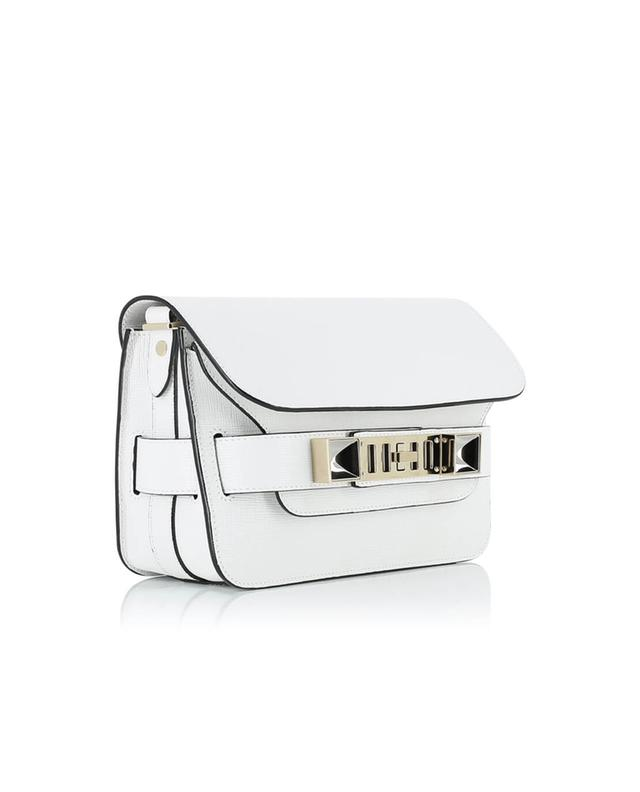 Proenza schouler ps1 1 leather shoulder bag white a29098