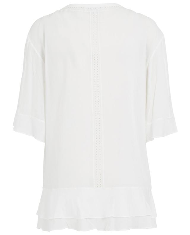 Iro ruffled top white A29378-BLAN