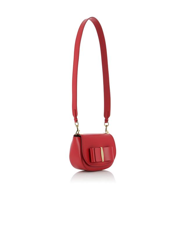 Salvatore ferragamo small leather shoulder bag red a29646