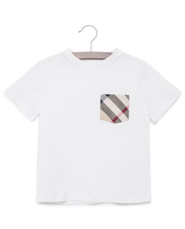Real Vente Pas Cher Burberry T-shirt à poche poitrine à carreaux Dates De Sortie Livraison Gratuite Résistant À L'usure Pk9k9Qkd