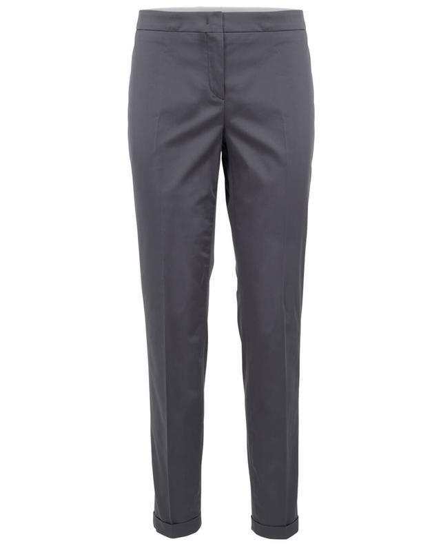 Fabiana filippi cotton trousers anthracite A30064-BLEU