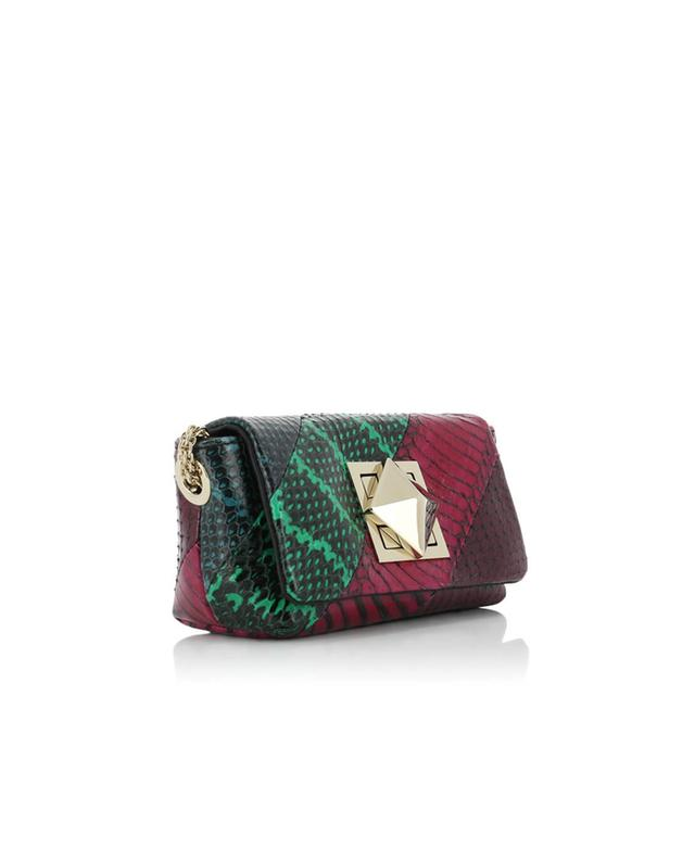 Sonia rykiel le copain leather croc-effect shoulder bag multicoloured1