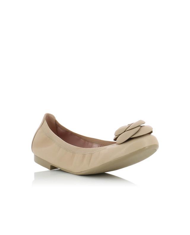 35da2ffcccdc PRETTY BALLERINAS Shirley leather ballet flats BEIGE A32431 ...