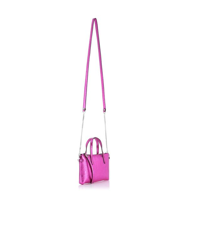 Gianni chiarini small leather crossbody bag pink a32519