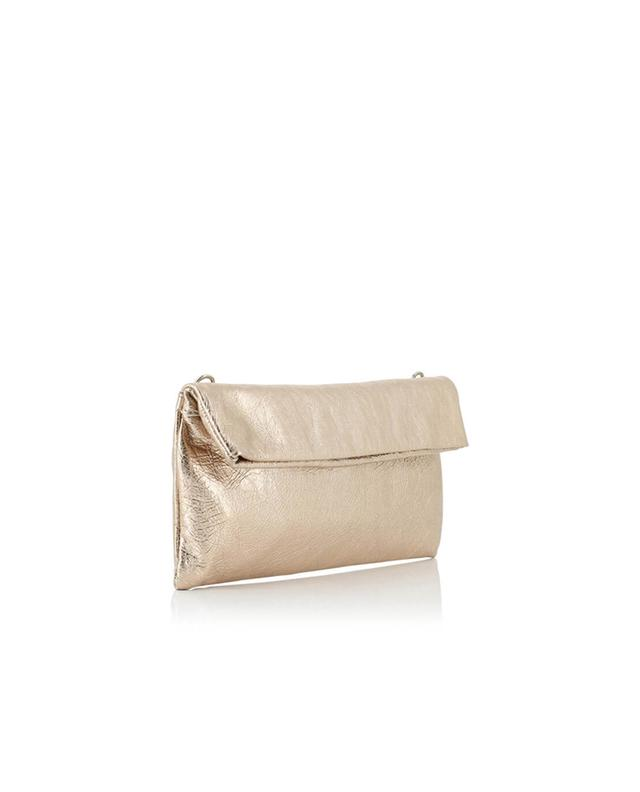 Gianni chiarini metallic leather clutch pinkgold a32520