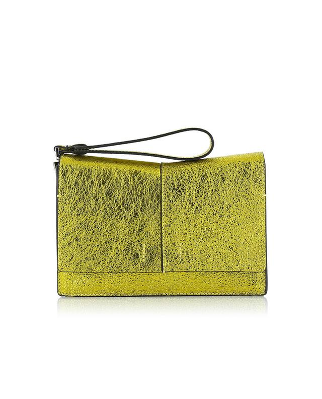 Gianni chiarini metallic leather bag yellow a32522