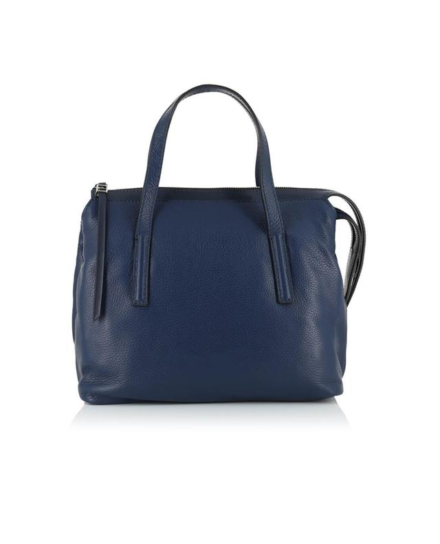 Gianni chiarini textured leather handbag navyblue a32525