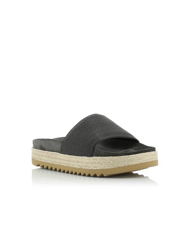 brunello cucinelli sandalen mit keilabsatz und. Black Bedroom Furniture Sets. Home Design Ideas