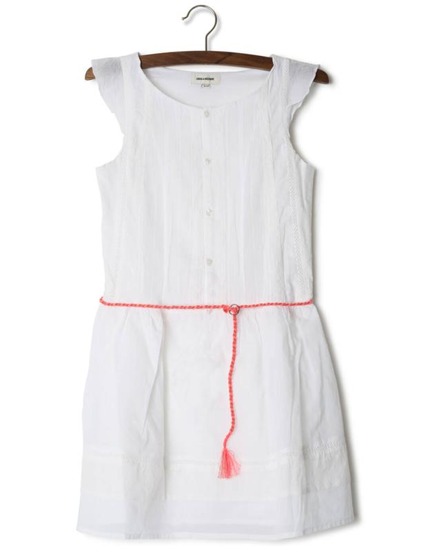 Zadig voltaire embroidered cotton dress white a33496