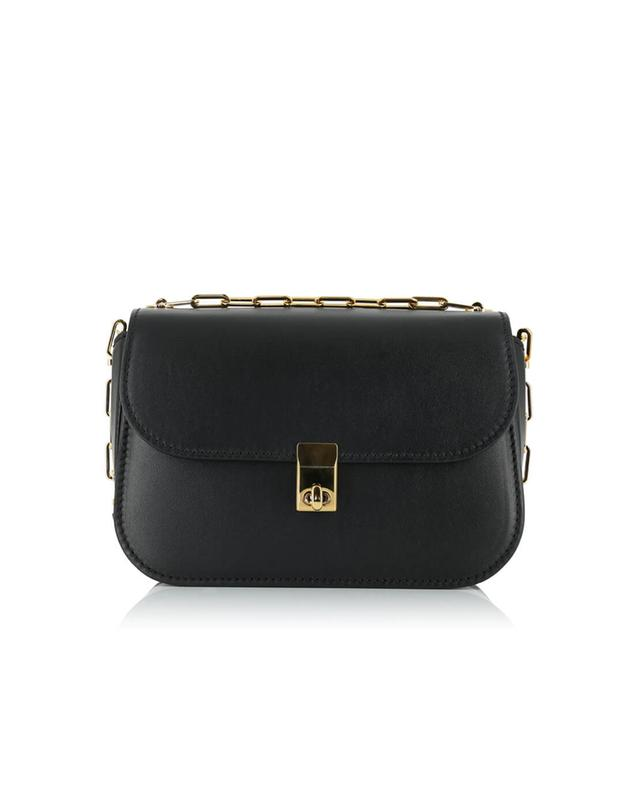 Valentino paradise leather shoulder bag black a35520