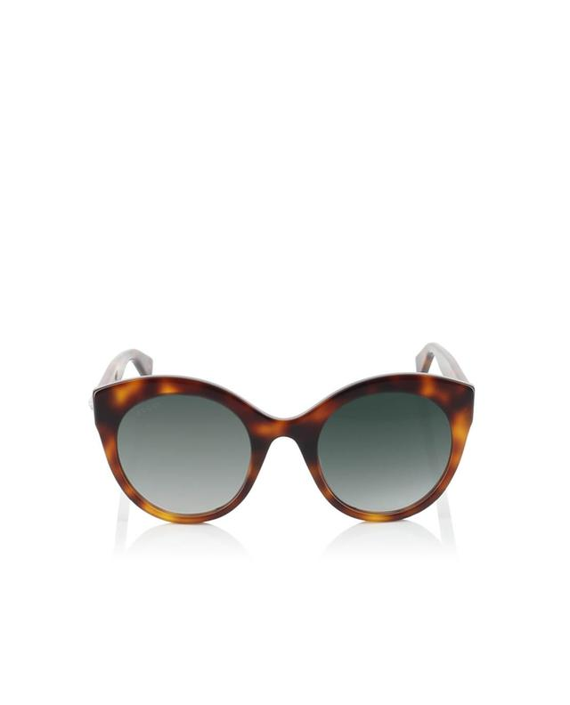 Gucci oversize cat eye acetate sunglasses brown a35968