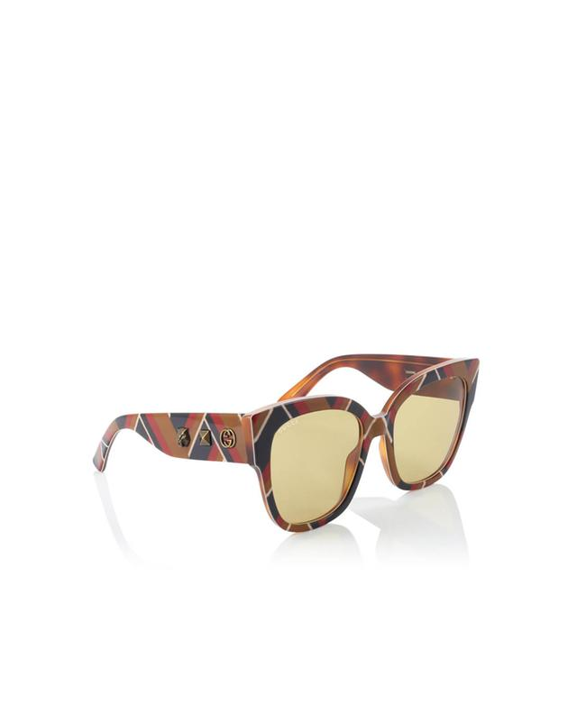 Gucci square-frame acetate sunglasses camel a35971