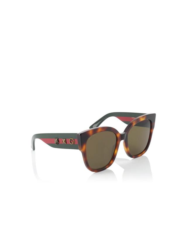 Gucci square-frame acetate sunglasses brown a35971