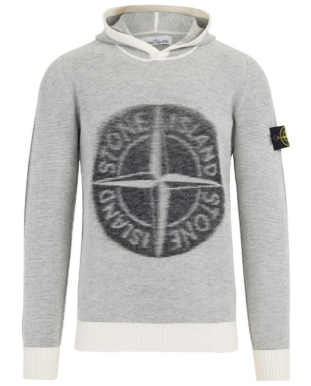 stone island pullover aus wollgemisch weiss a37540 bongenie grieder. Black Bedroom Furniture Sets. Home Design Ideas