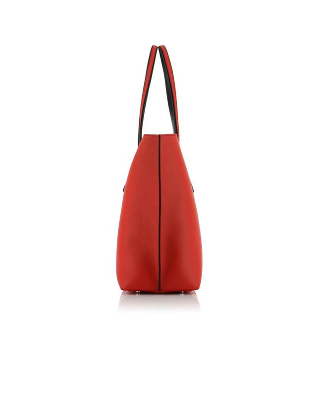 Tod's grained leather shopper bag red a40597