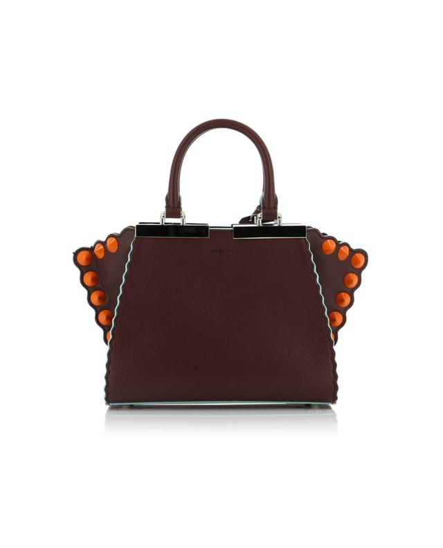 Fendi 3 jours mini leather handbag burgundy a41401