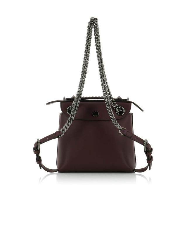 Fendi mini-sac à dos en cuir back to school bordeaux a41403
