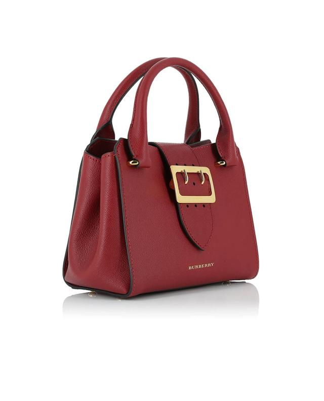 Burberry the buckle grained leather handbag red a41498