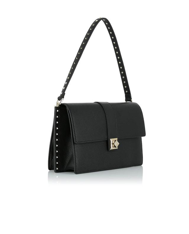Valentino textured leather handbag black a41528